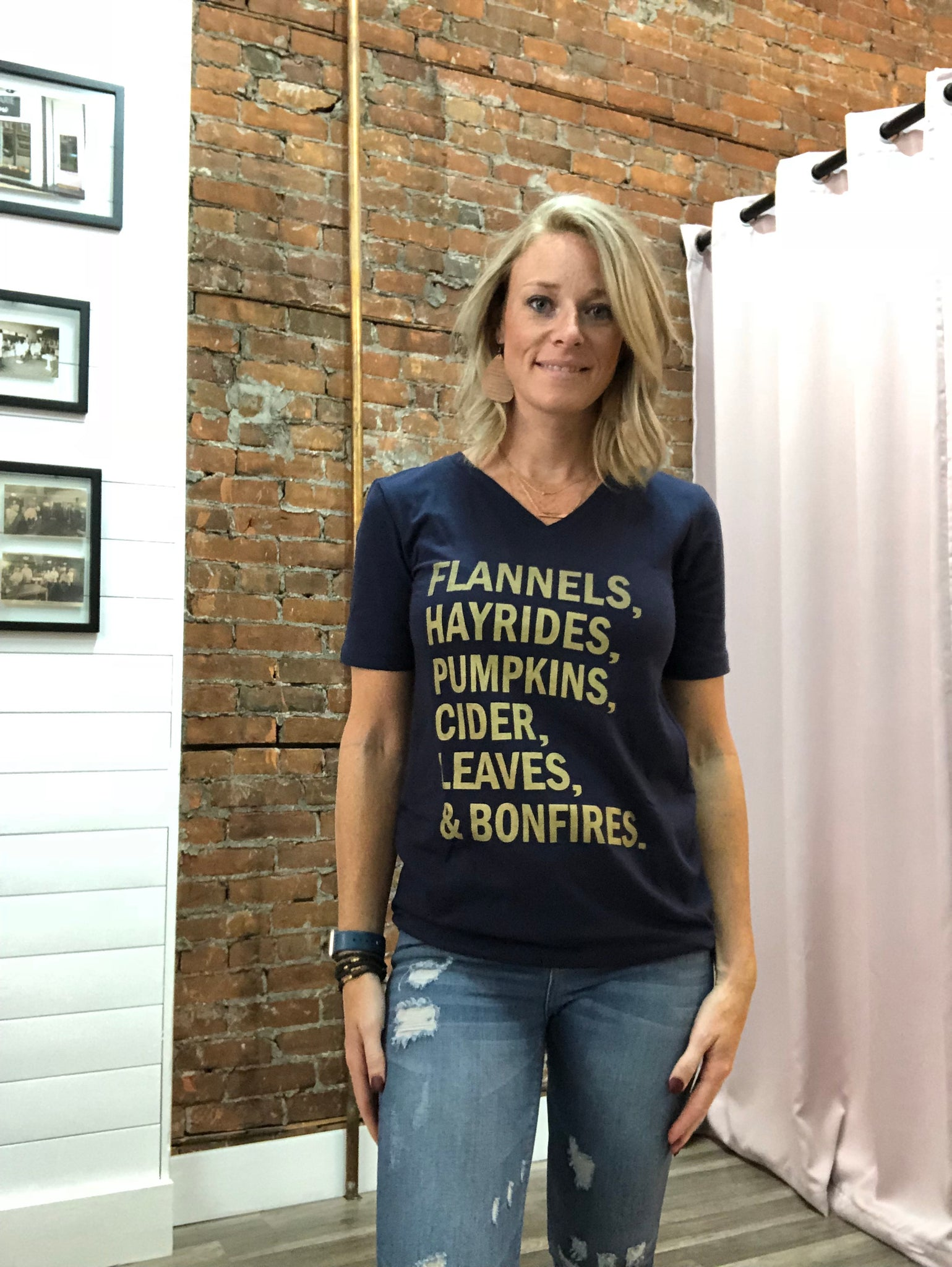 Navy Fall T-Shirt