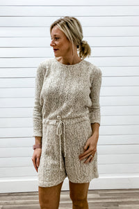 Open Back Knit Romper