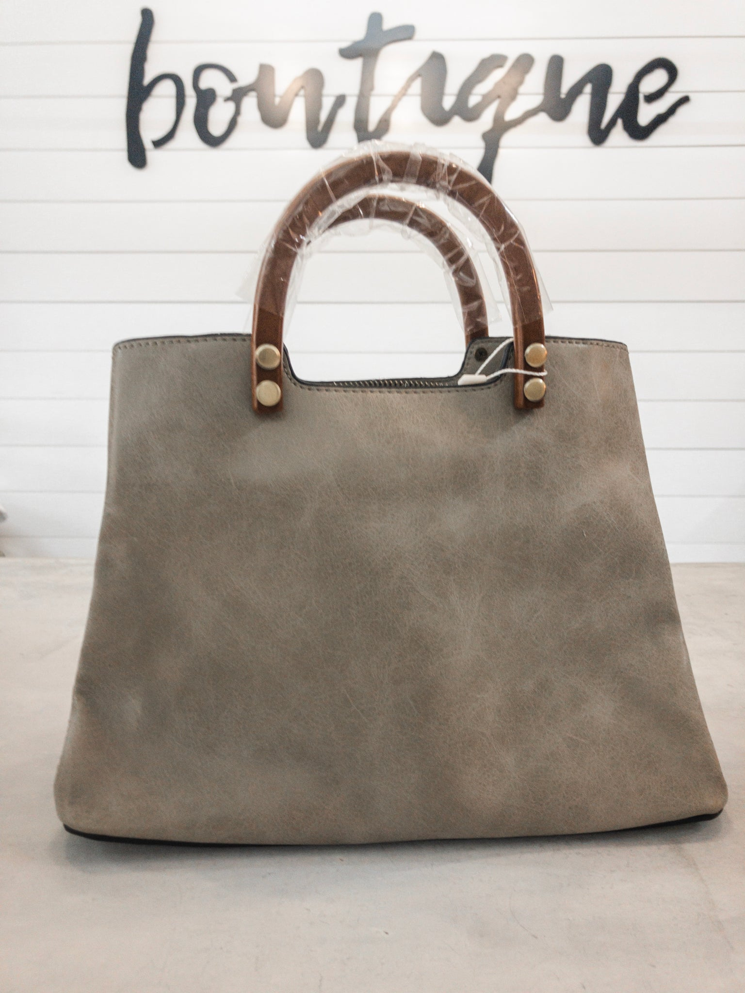 Oyster Angie Vintage Satchel with Strap