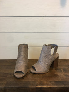 Taupe Bootie with Open Toe & Heel