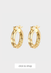Thick Ride Hammered Hoops
