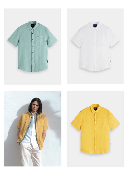 scotch and soda mens linen clothing