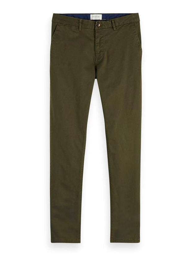 Stuart - Classic Regular Slim Fit Chino - Military 32""