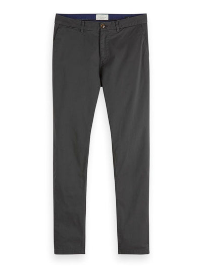Stuart - Classic Regular Slim Fit Chino - Charcoal 32""