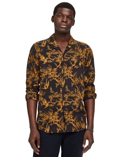 Regular Fit- All-Over Printed Toile De Jouy Shirt - Combo C