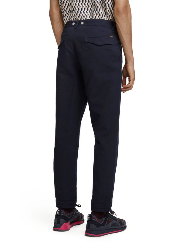 Seasonal Fit - Pleated Chino In Interlock Quality - Night 32""