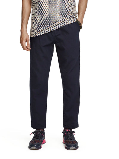 Scotch & Soda Seasonal Fit - Pleated Chino In Interlock Quality - Night 32""