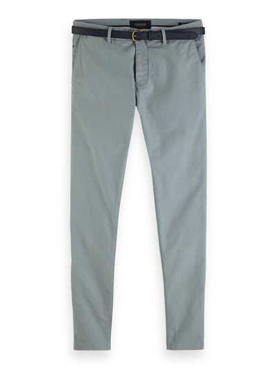 Scotch & Soda Mott - Classic Garment-Dyed Twill Chino - Sky Blue 32""