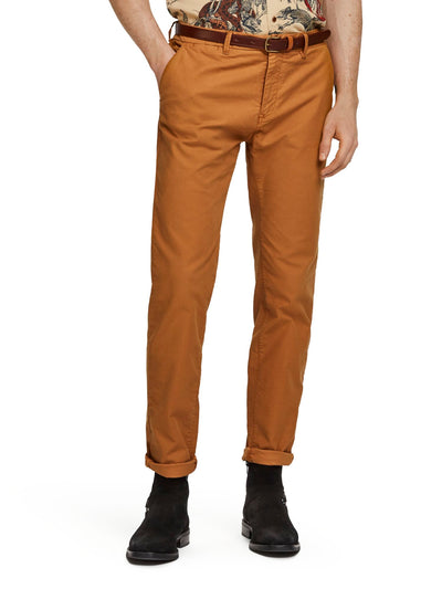 Scotch & Soda Stuart - Stretch Chinos | Regular Straight Fit -Noix 32""