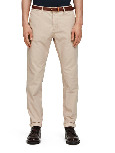 Scotch & Soda Stuart - Stretch Chinos | Regular Straight Fit -Sand 32""