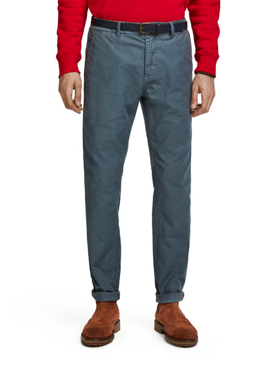 Stuart - Stretch Chinos | Regular Straight Fit - Steel 32""