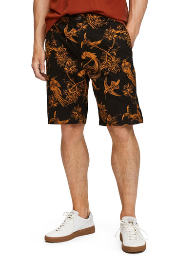 Scotch & Soda Relaxed Chino Short In Bedford Cord Quality -Combo B