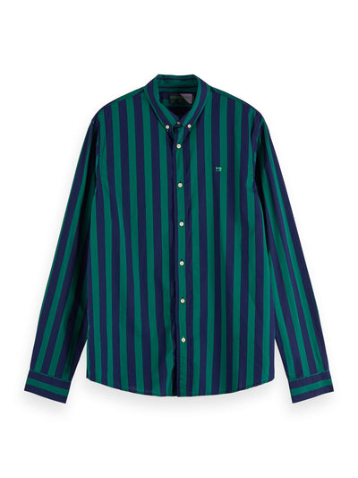 Regular Fit - Classic Shirt In Solids And Stripes - Combo D