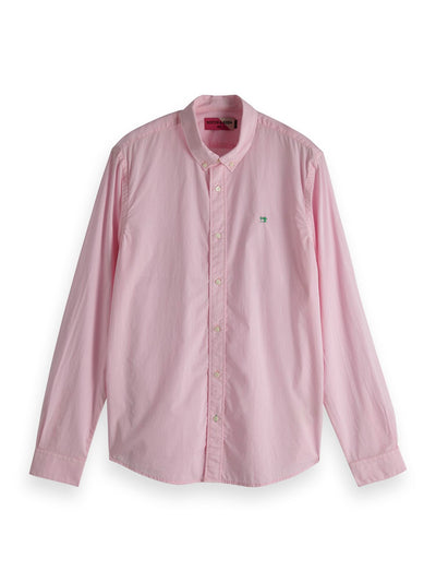 Regular Fit - Classic Shirt In Solids And Stripes - Wild Pink