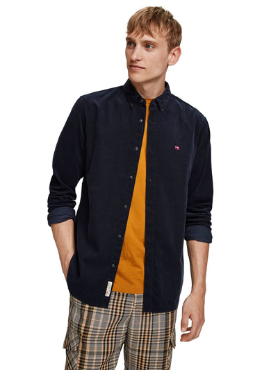 Regular Fit - Clean Chic Corduroy Shirt - Night