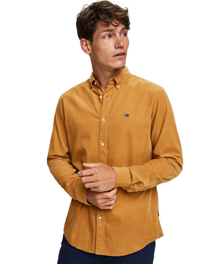 Regular Fit - Clean Chic Corduroy Shirt - Sand