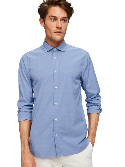 Regular Fit- Classic Dress Shirt In Blue - Combo C