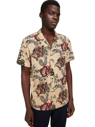 Scotch & Soda Regular Fit - Chic All-Over Printed Shortsleeve Shirt -Combo A