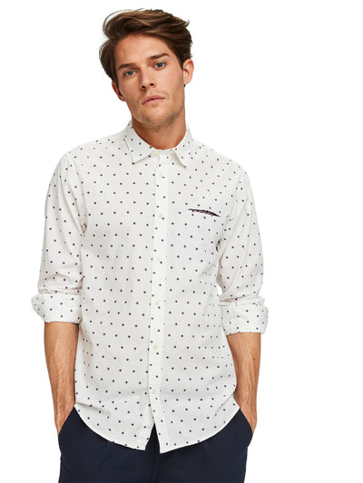 Regular Fit- Classic All-Over Printed Pocket Shirt - Combo D