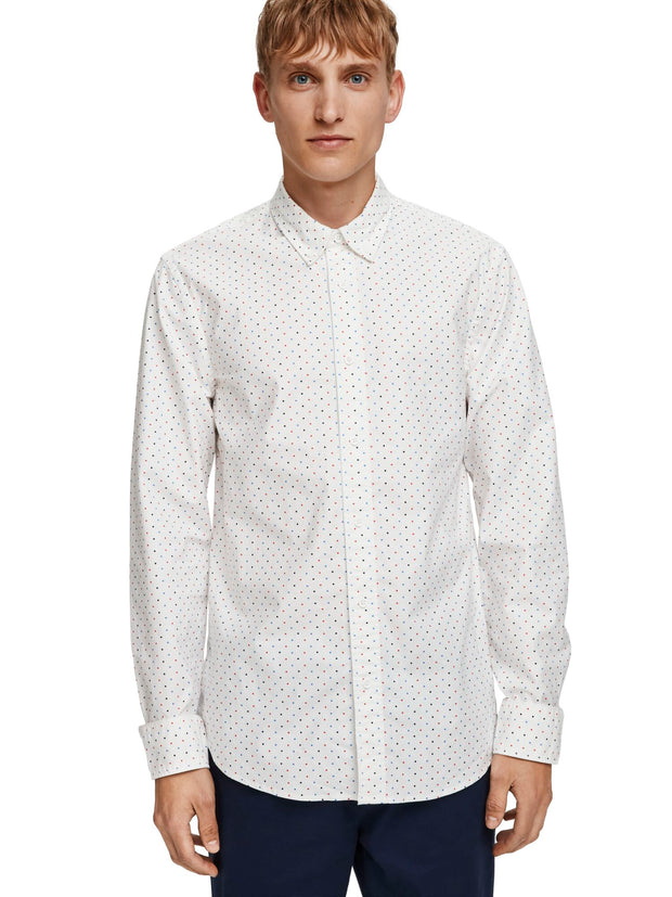 Regular Fit - Classic Oxford Shirt With All-Over Print - Combo F