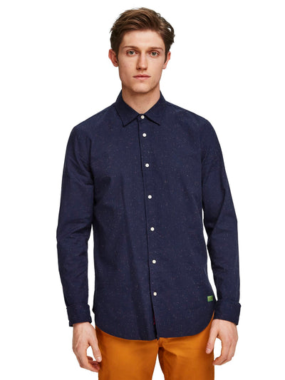 Regular Fit - Shirt In Neps Quality - Night