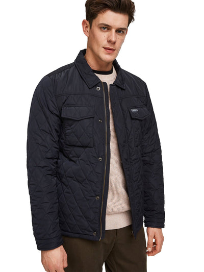 Classic Quilted Shirt Jacket - Night