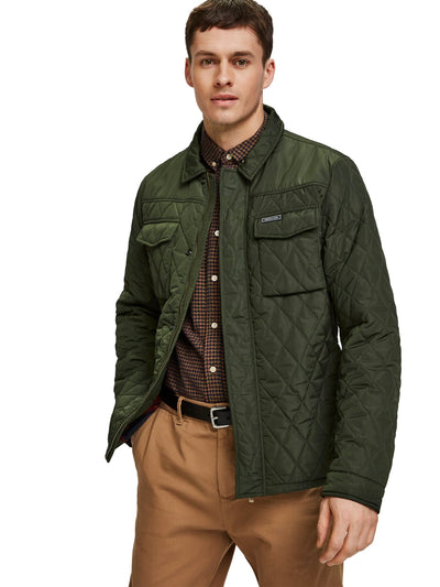 Classic Quilted Shirt Jacket - Military