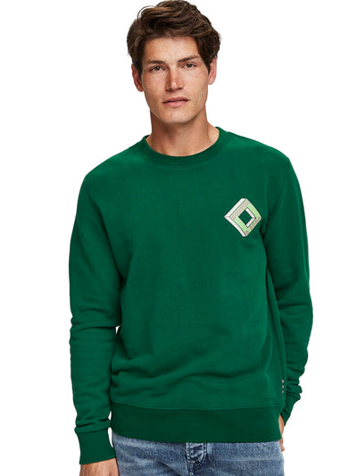 Classic Crewneck Sweat In Soft Felpa Quality - Boxing Green