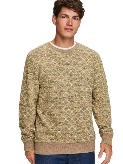 All-Over Printed Sweat In Multicolor Melange Felpa Quality - Combo C