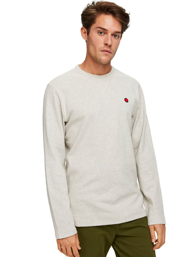 Clean Longsleeve Tee - Light Grey Melange