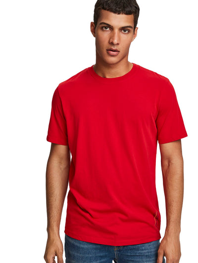 Scotch & Soda Jersey Crewneck Tee With Small Logo Artwork -Red Light