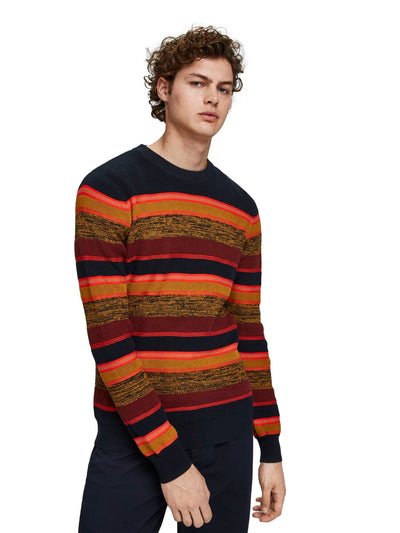 Striped Crewneck Pull In Structured Knit - Combo B