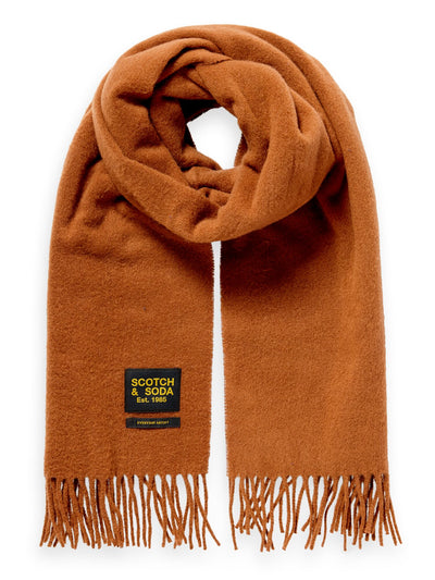 Classic Woven Wool Scarf - Wood Block
