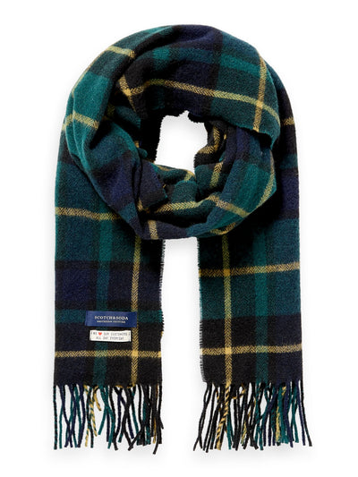 Classic Woven Check Scarf In Wool-Blend Quality - Combo A