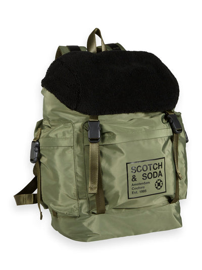 Scotch & Soda Travellers Backpack With Teddy Flap -Combo A