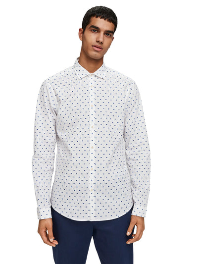 Slim Fit Crispy L/S Shirt With Prints - Combo D
