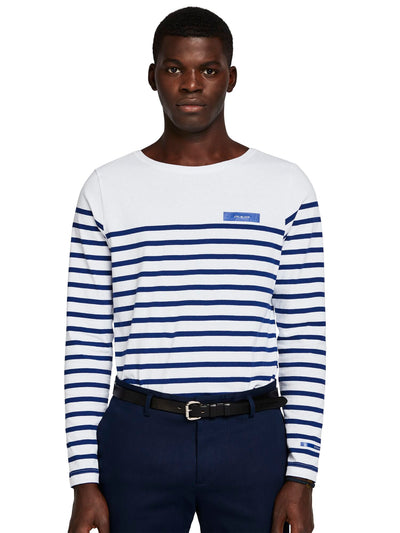 Breton In Engineered Stirpes And Boat Neck - Combo C