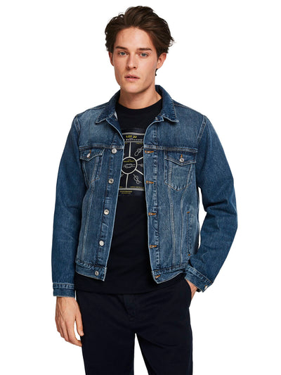 Classic Trucker Jacket With Label Detail - Driftline