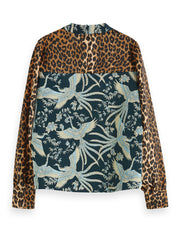 High Neck Top In Mixed Prints - Combo F