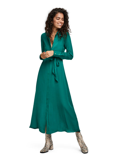 Belted Maxi Dress - Emerald