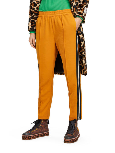 Scotch & Soda Tapered Jogger With Side Stripes - Ochre