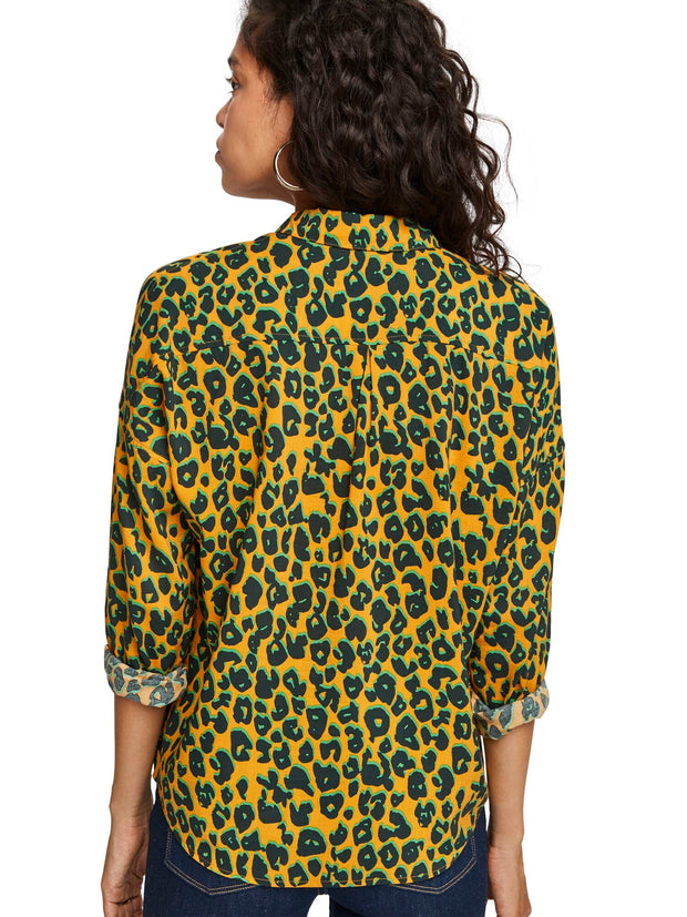 Oversized Boxy Fit Cotton Viscose Shirt In Various Prints - Combo L