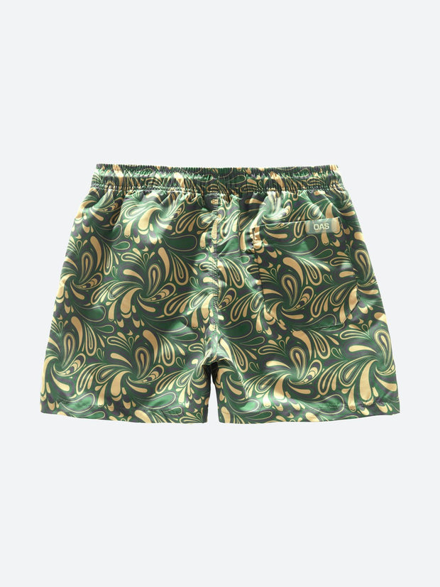 Woodstock - Green / Beige Pattern