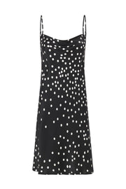 Straight Neck Dress - Broken Dot