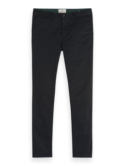 Scotch & Soda Mott - Classic Slim Fit Chino - Black 32""