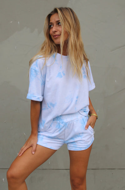 Boyfriend Tie Dye Set - Blue