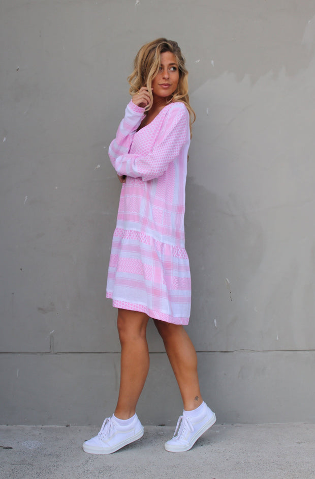 Dress 2 V Long Sleeves - Bubble