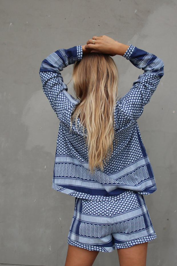 Shirt V Long Sleeves - Twillight Blue