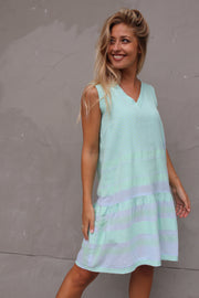 Dress 2 V No Sleeves - Ballad Blue