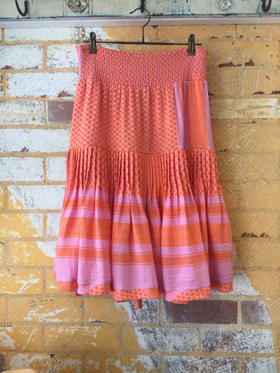 Aftergold Skirt - Tangerine